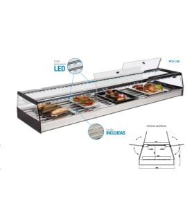 Vitrina refrigerada pinchos con puertas correderas con grupo remoto 2500mm VPI-250