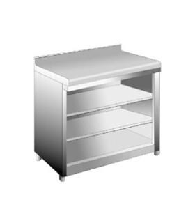 Mesa Frente Mostrador 2 estantes 1000x350mm Edenox