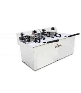 Freidora eléctrica sin grifo 12+12 litros trifásica con contactor EVO1212TR