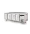 Mesa Snack Refrigerada 2545x600mm 4 puertas de cristal Coreco TSRV-250-S