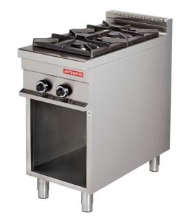 Cocina a gas 2 fuegos 2x8kw 425x900x900h mm GR911