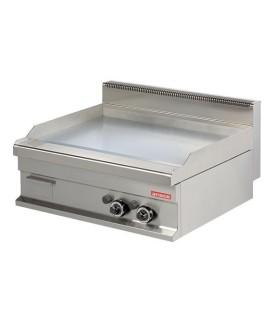 Fry tops a gas liso acero 15 mm con baño cromo duro 12kw 800x700x290h mm GG721S