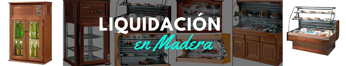 Liquidación de muebles y vitrinas en Madera